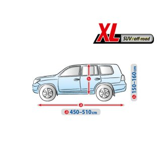 Land Rover Discovery II - Bj.1998-2004 | Autoplane BASIC Line XL SUV Autoabdeckung